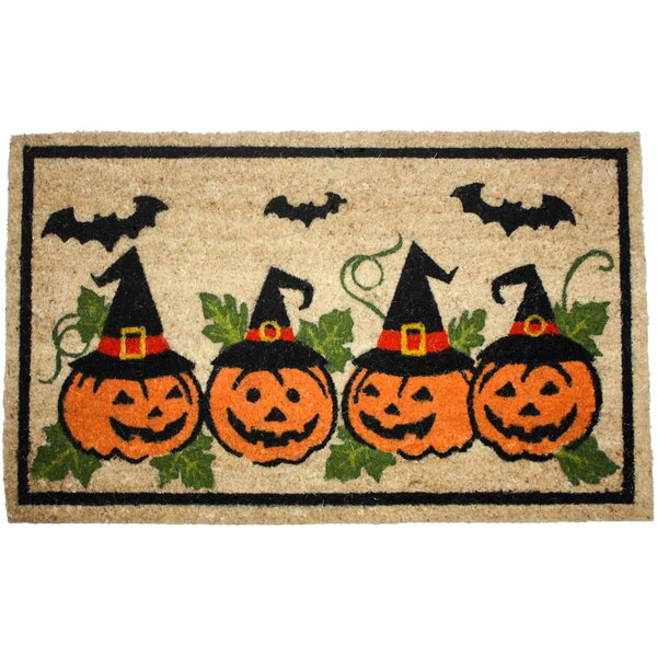 Halloween Row of Pumpkins Doormat by J and M Home