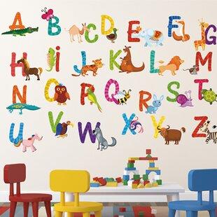 Repositionable 26 Alphabet Animals Wall Decal  sc 1 st  Wayfair & Nursery Repositionable Wall Decal | Wayfair