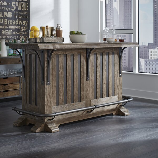 Keyon Wooden Bar with Wine Storage by 17 Stories 17 Stories