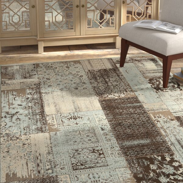 Saint-Michel Light Blue/Anthracite Area Rug by Bungalow Rose