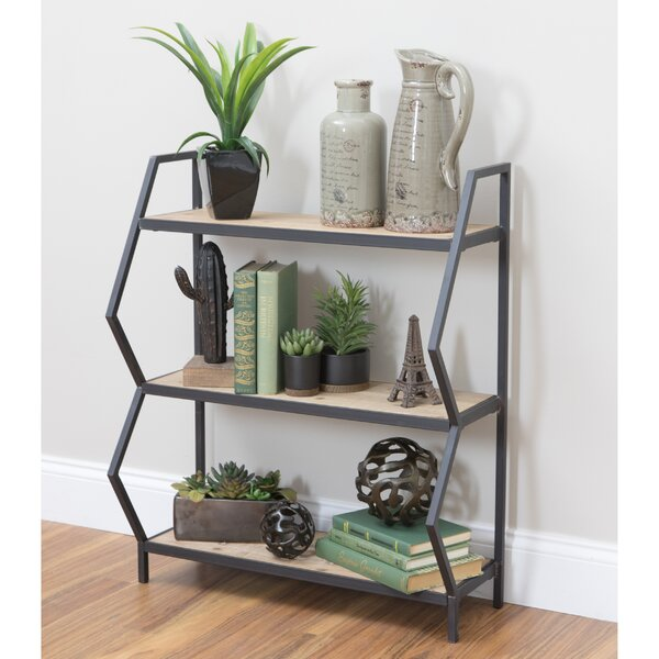 Citlali 3-Shelf Industrial Etagere Bookcase by Wrought Studio