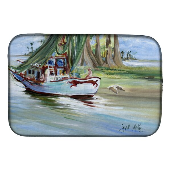 Jeannie Shrimp Boat Dish Drying Mat by Caroline's Treasures