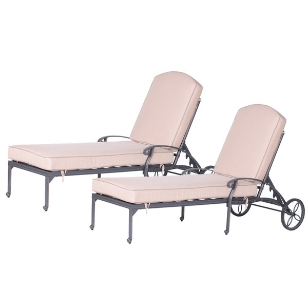 Eulalie Sun Lounger Set with Cushions (Set of 2) by Darby Home Co Darby Home Co