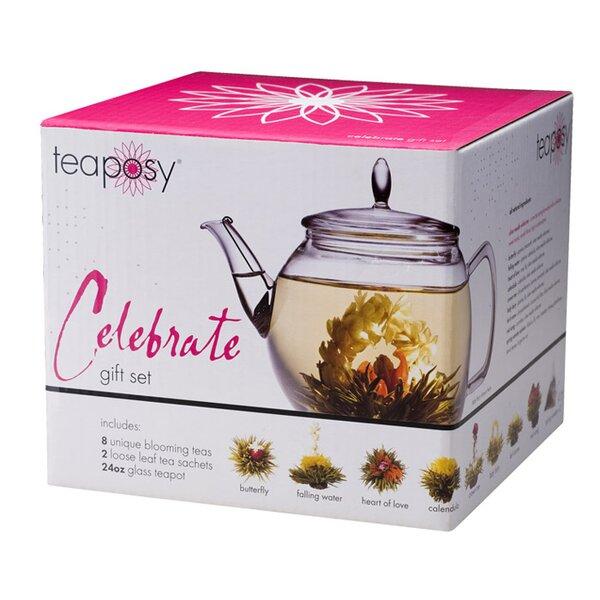 Celebrate 0.75-qt. Teapot Gift Set by Tea Posy
