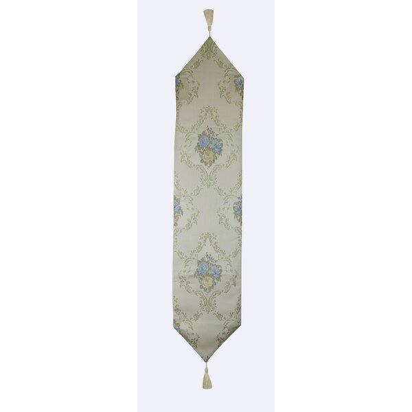 Finnian Floral Elements and Flower Bouquets Table Runner by Astoria Grand