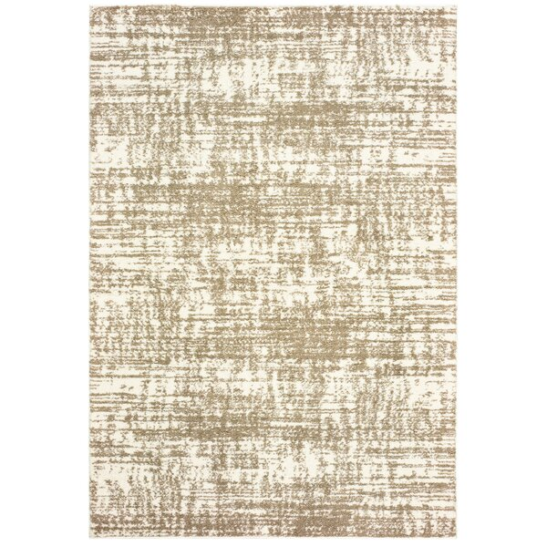 Battlefield Ivory/Taupe Indoor/Outdoor Area Rug by Greyleigh