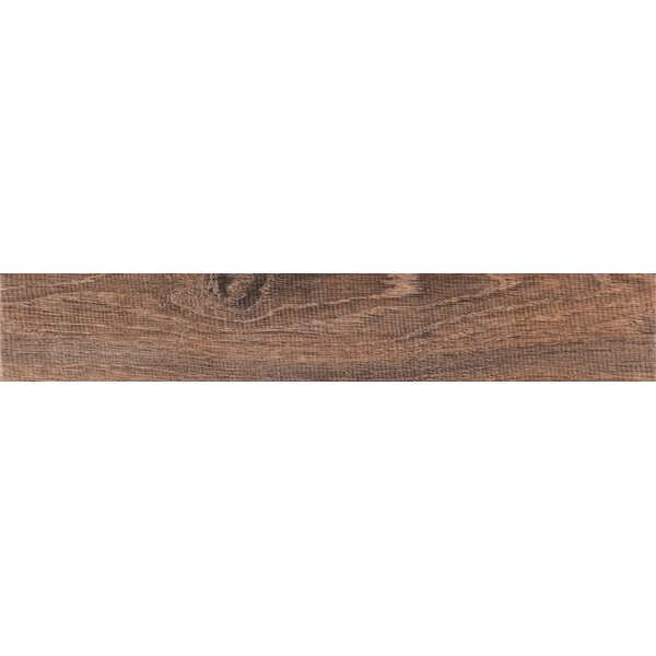 Upscape Bruno 6 x 40 Porcelain Wood Look Tile in Brown by MSI