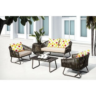 Finest 5 Piece Sofa Set with Cushions By FurniCity