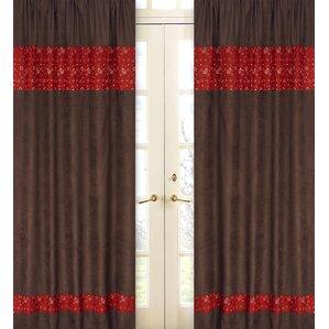 Wild West Cowboy Paisley Semi Sheer Rod Pocket Curtain Panels (Set Of 2)