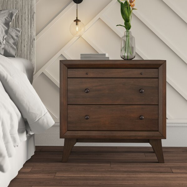 Zichichi 3 Drawer Nightstand By Mercury Row by Mercury Row Best #1
