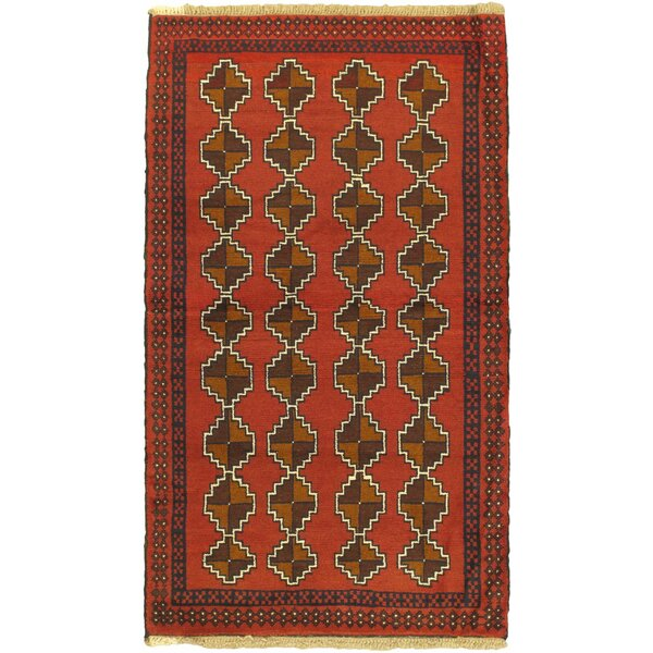 One-of-a-Kind Ditto Hand-Knotted Wool Orange/Brown Area Rug by Isabelline