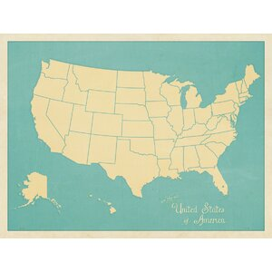 USA Map Graphic Art by McGaw Graphics