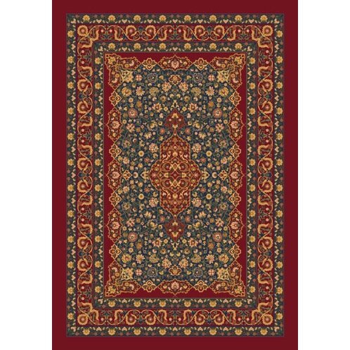 Pastiche Kashmiran Tiraz Tapestry Red Area Rug by Milliken