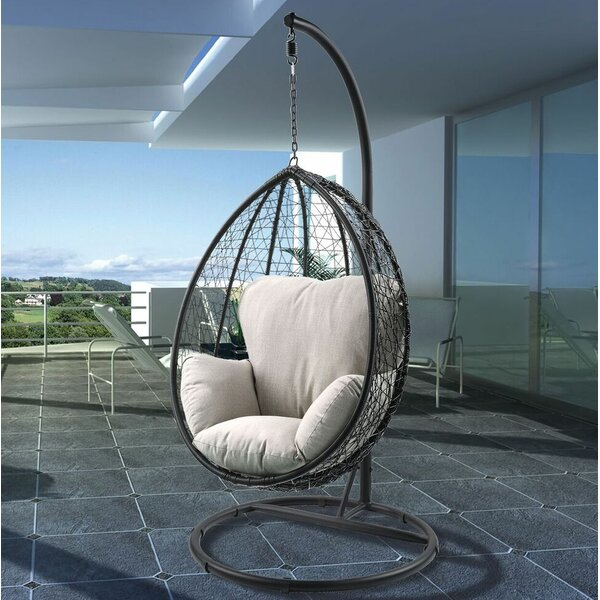 Simona Patio Swing Chair with Stand by Bungalow Rose