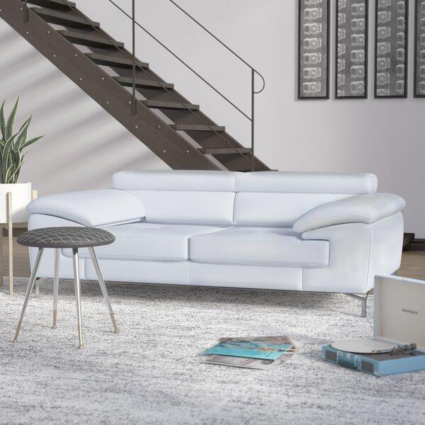 Twining Leather Sofa by Wade Logan
