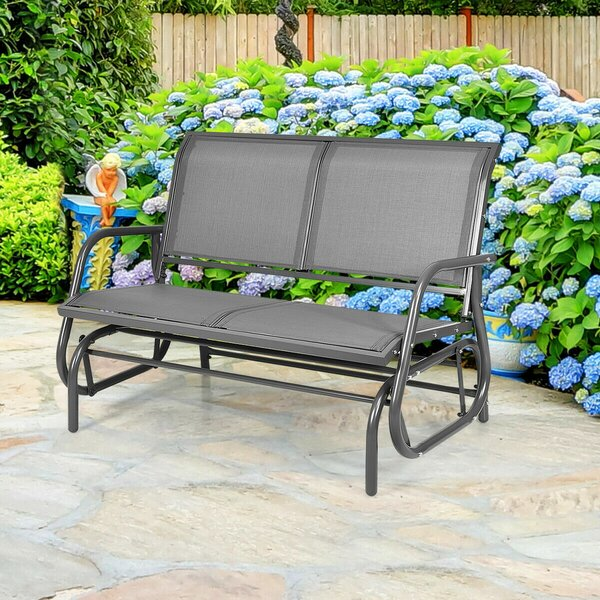 Whitland Steel Glider Bench by Latitude Run