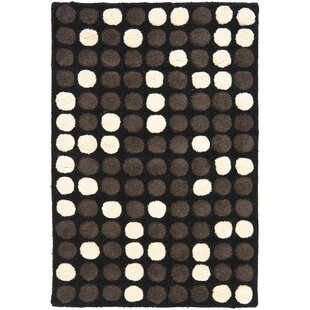 Find Freda Hand-Tufted Black/White Area Rug By Zipcode Design