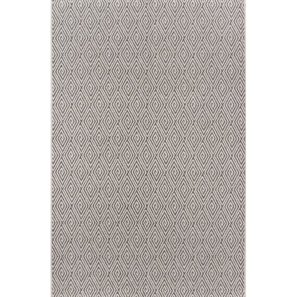 Downeast Wells Charcoal Indoor/Outdoor Area Rug by Erin Gates by Momeni
