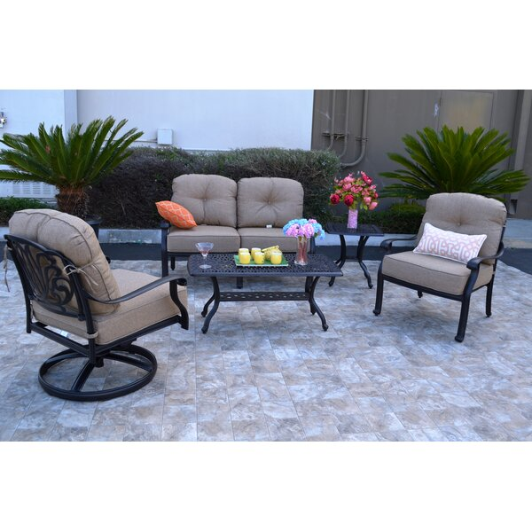 Kristy 5 Piece Sunbrella Sofa Set with Cushions by Darby Home Co