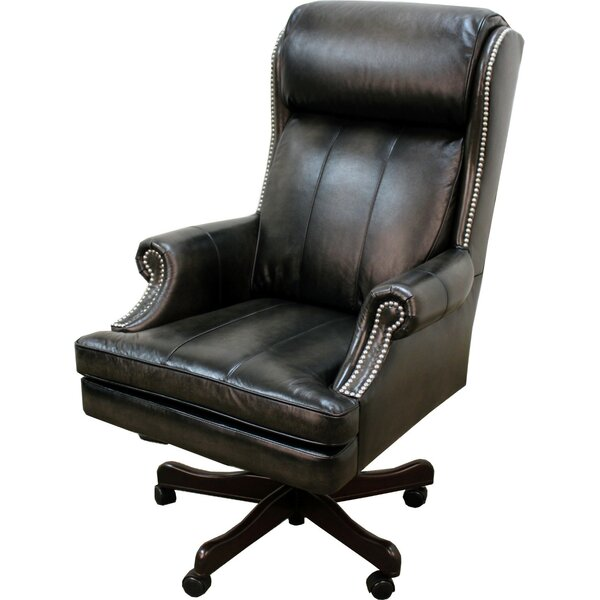 Corey Leather Executive Chair by Darby Home Co