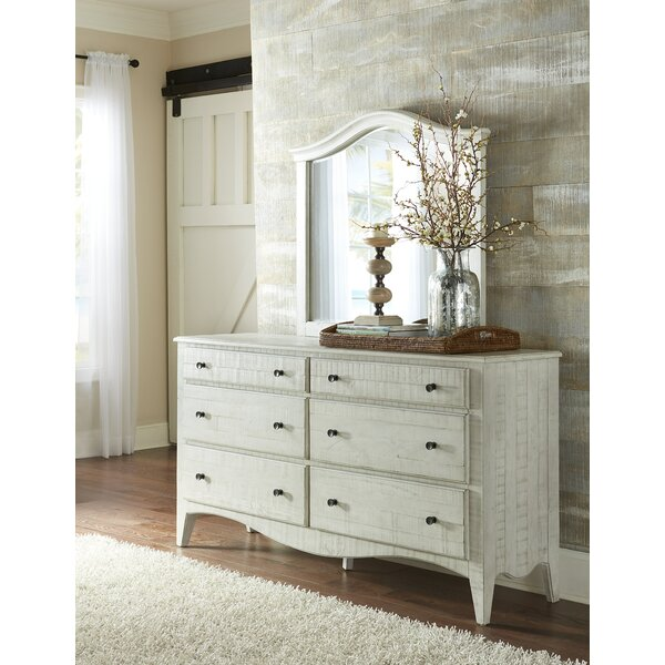 Allyson 6 Drawer Combo Dresser with Mirror by One Allium Way