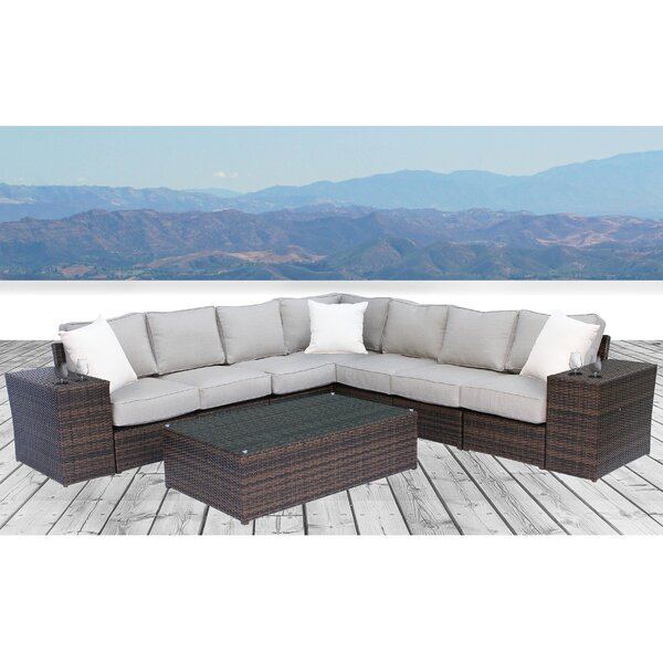Widener 10 Piece Sectional Seating Group With Cushions By Sol 72 Outdoor by Sol 72 Outdoor Comparison