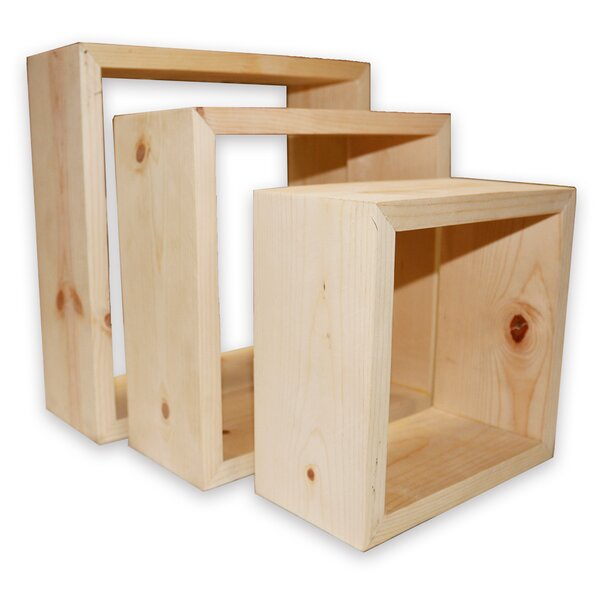 Sukabumi Cube 3 Piece Wall Shelf Set by Millwood Pines