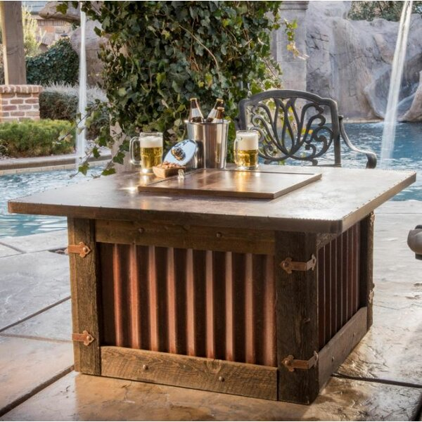 Homesteader Steel Natural Gas Fire Pit Table by CC Products