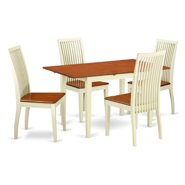 Balfor 5 Piece Solid Wood Dining Set by Andover Mills