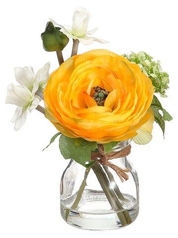 Ranunculus in Vase by Charlton Home