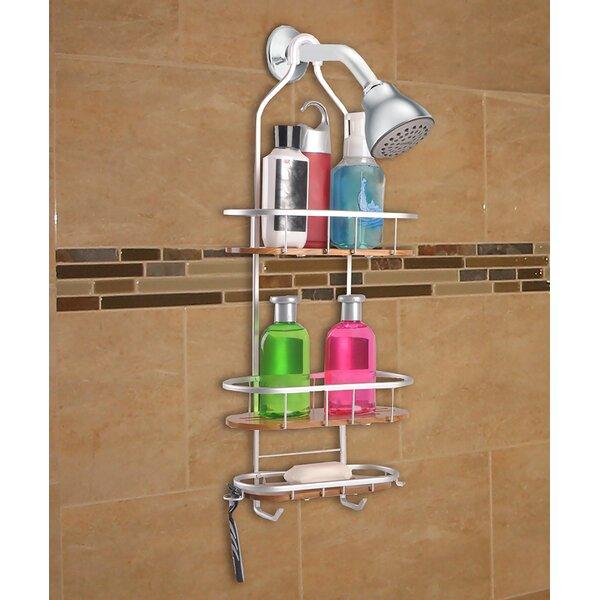Teak 3 Shelf Rustproof Shower Caddy by Utopia Alley