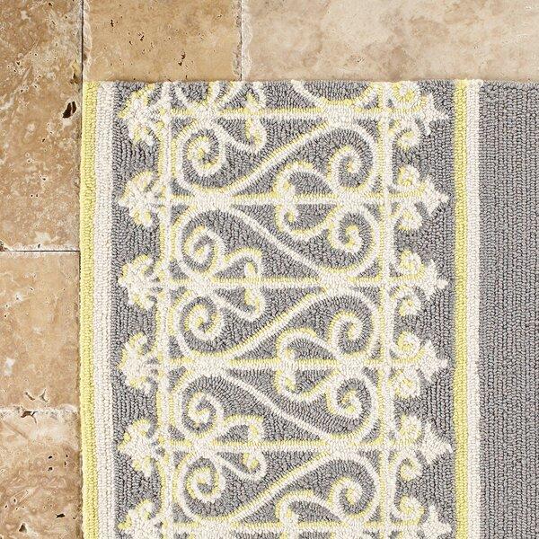 Edwin Hand-Woven Gray Indoor/Outdoor Area Rug by Birch Lane™