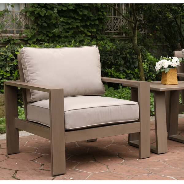 Daly Patio Chair with Cushion by Modern Rustic Interiors