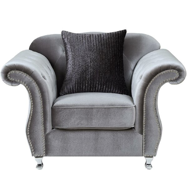 Alcorn Chesterfield Chair by Darby Home Co