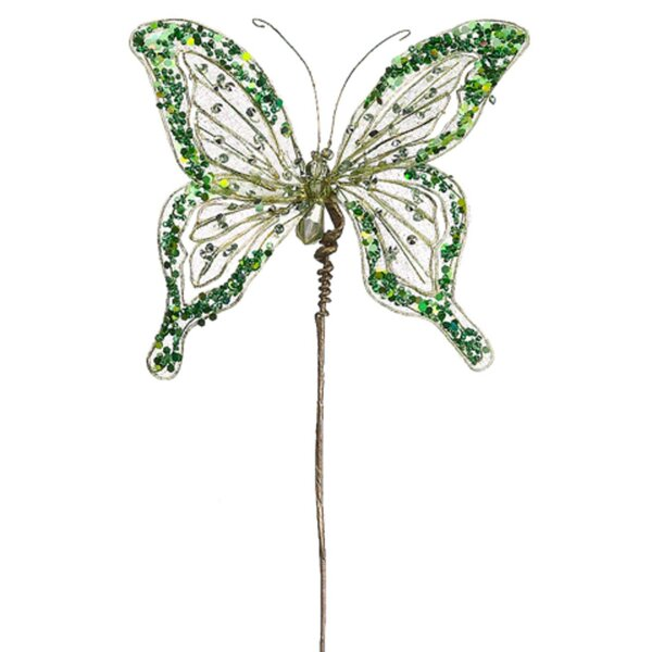 Princess Butterfly Jeweled & Beaded Floral Craft Pick by Tori Home