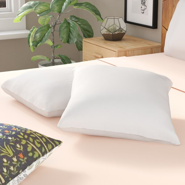 White Pillow Insert (Set of 2) by Alwyn Home