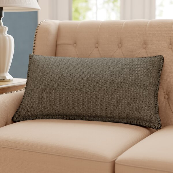 Kenilworth Diamond Texture Cotton Lumbar Pillow by Winston Porter