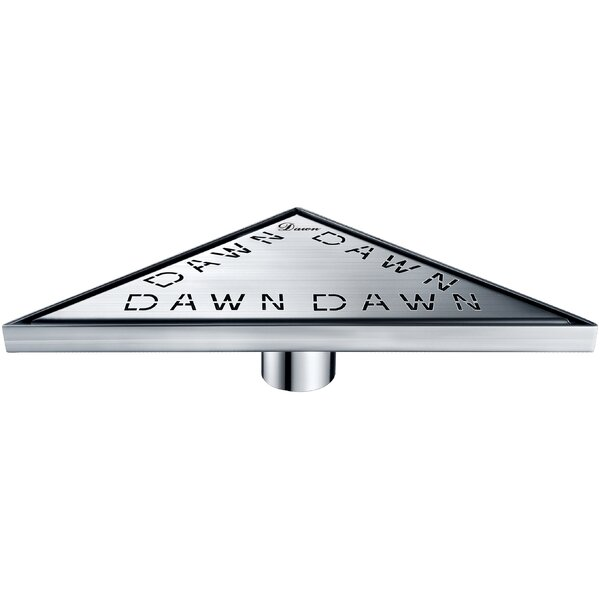 Brisbane River Grid Shower Drain with Overflow by Dawn USA