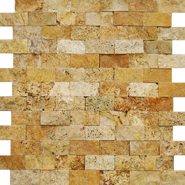 2'' x 4'' Travertine Splitface Tile in Gold by Epoch Architectural Surfaces