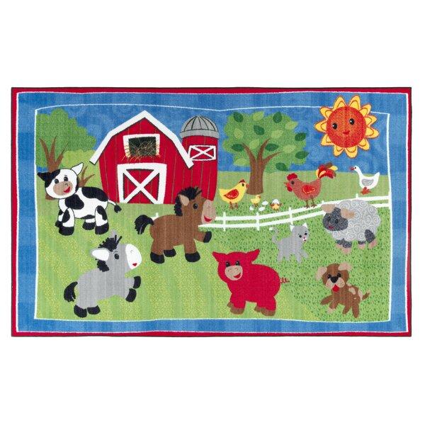 Cutie Barnyard Kids Rug by Flagship Carpets
