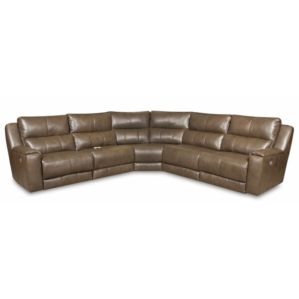 Dazzle Leather Right Hand Facing Reclining Sectional By Southern Motion