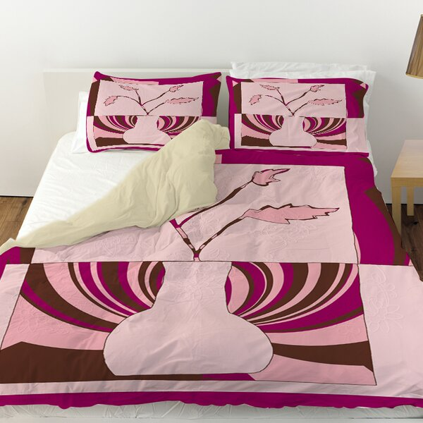 Minimalist Flowers 1 Duvet Cover by Manual Woodworkers & Weavers