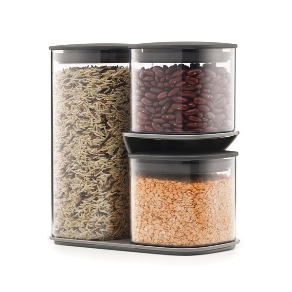 Podium Dry 3 Container Food Storage Set with Stand by Joseph Joseph