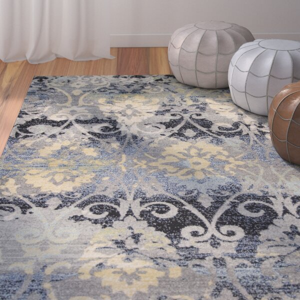 Curtice Gray Grace Area Rug by Bungalow Rose