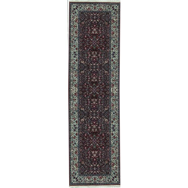 Runner Oriental Hand-Knotted Wool Red/Ivory Area Rug