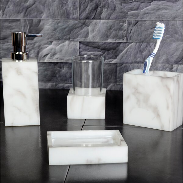 Ares Wolfe 4 Piece Bathroom Accessory Set by The Twillery Co.