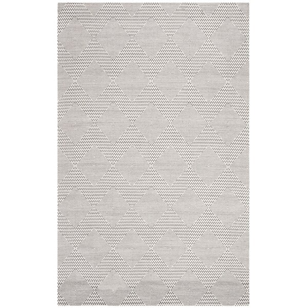 Burner Hand-Woven Dark Gray/Ivory Area Rug by Highland Dunes