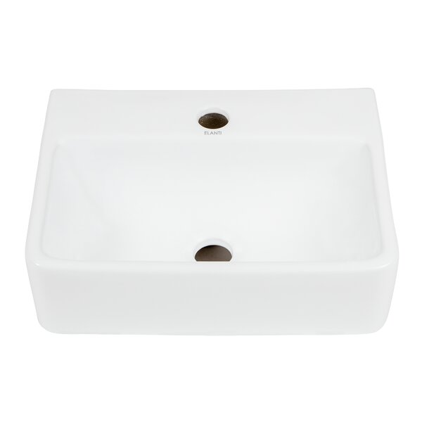 Ceramic 15'' Wall-Mount Bathroom Sink by Elanti