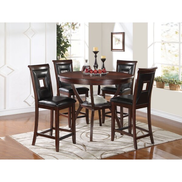 Pasillas 5 Piece Counter Height Dining Set by Loon Peak