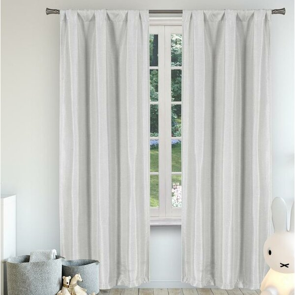 Anselmo Solid Light Filtering Thermal Rod Pocket Curtain Panels (Set of 2) by Trent Austin Design
